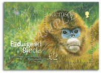 Stamp of Golden Snub-Nosed Monkey